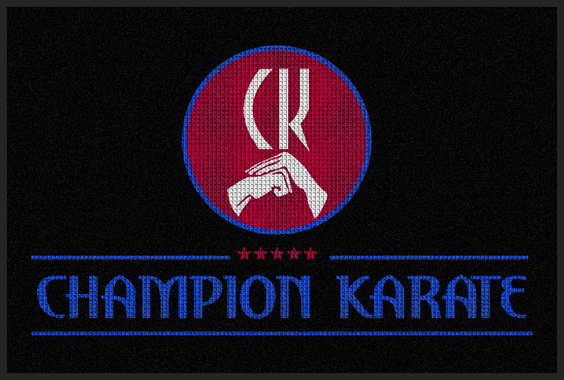 Champion Karate 4 X 6 Waterhog Impressions - The Personalized Doormats Company