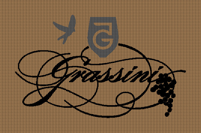 Grassini Family Vineyards 2 X 3 Waterhog Impressions - The Personalized Doormats Company