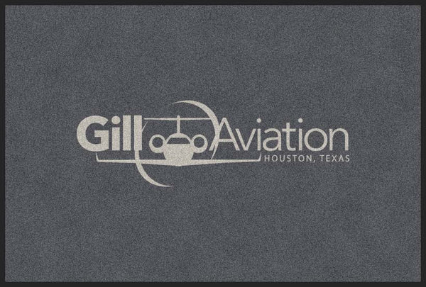 Gill Aviation 4 x 6 Flocked Olefin 1 Color - The Personalized Doormats Company