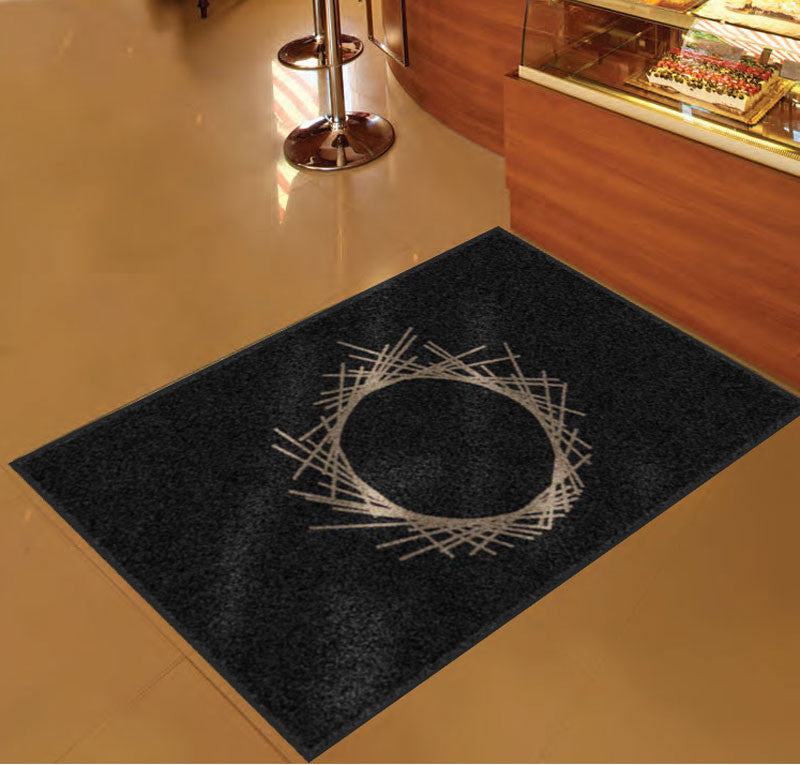 Atelier crenn mat 3 X 5 Rubber Backed Carpeted - The Personalized Doormats Company