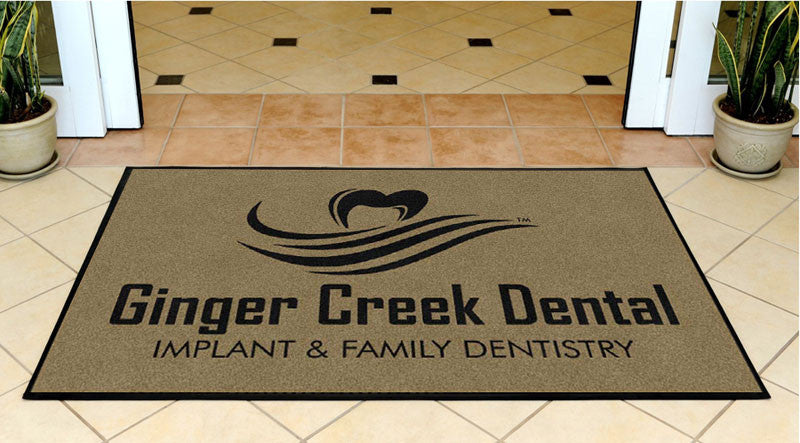 Ginger Creek Outdoor 3 X 5 Rubber Backed Carpeted HD - The Personalized Doormats Company