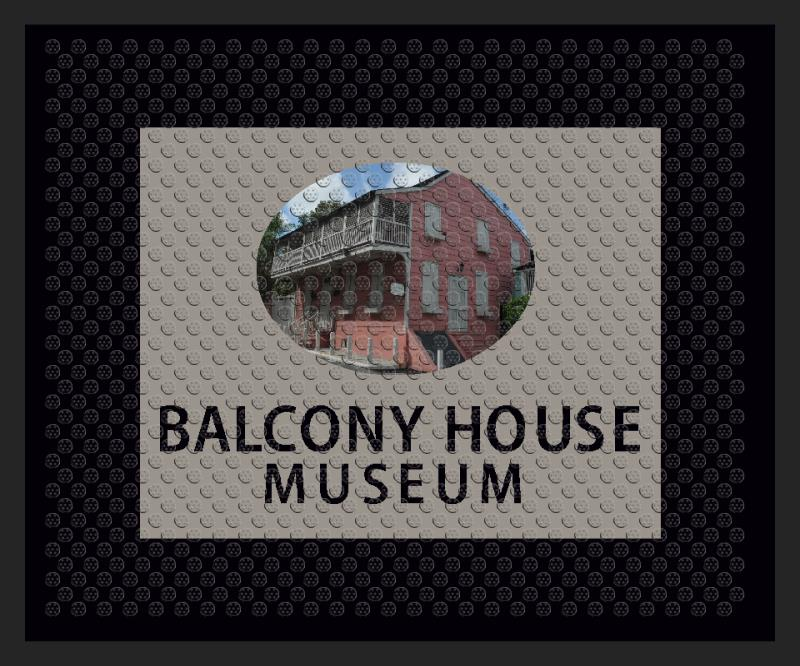 Balcony House Museum 2.5 X 3 Rubber Scraper - The Personalized Doormats Company
