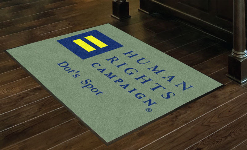 HRC    Dot's Spot 3 X 4 Rubber Backed Carpeted HD - The Personalized Doormats Company