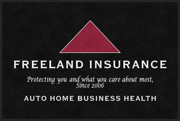 Freeland Insurance 4 X 6 Rubber Backed Carpeted HD - The Personalized Doormats Company