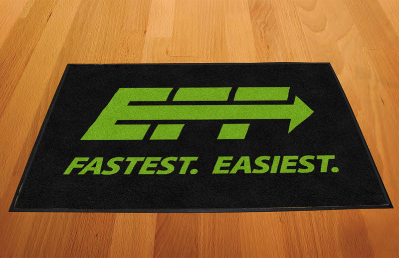 Express Funeral Funding 2 x 3 Rubber Backed Carpeted HD - The Personalized Doormats Company