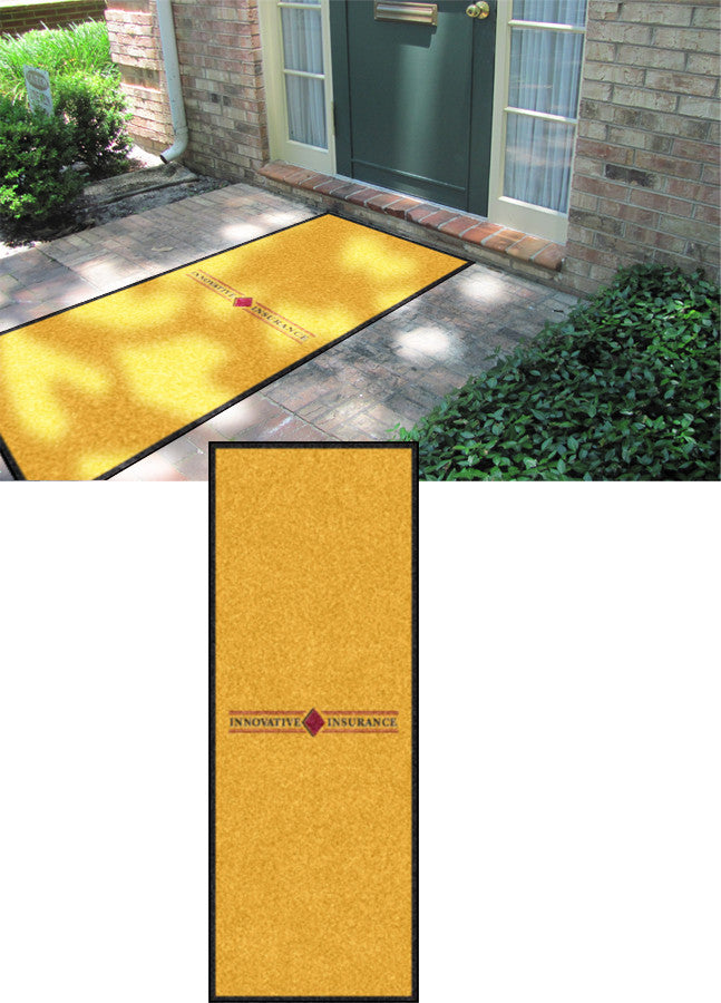 Innovative Insurance 3 X 8 Rubber Backed Carpeted HD - The Personalized Doormats Company