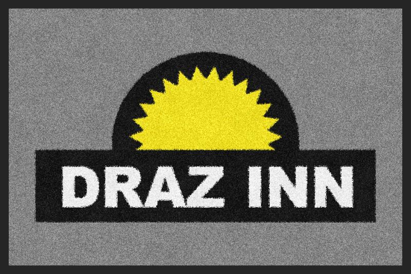 DRAZ INN 2 X 3 Rubber Backed Carpeted - The Personalized Doormats Company