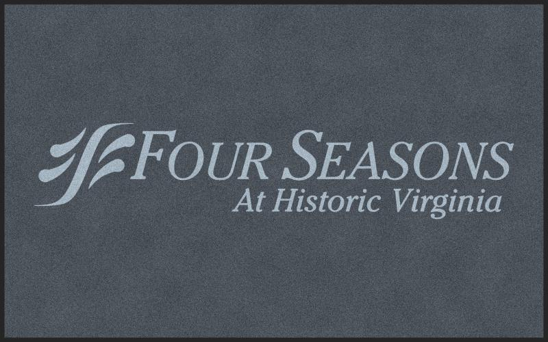 Four Seasons 5 X 8 Rubber Backed Carpeted HD - The Personalized Doormats Company