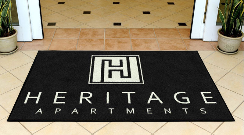 HAA indoor mat 3 x 5 Rubber Backed Carpeted - The Personalized Doormats Company