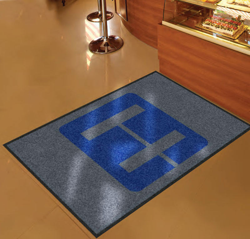 Entry Logo Rug 3 x 5 Rubber Backed Carpeted HD - The Personalized Doormats Company