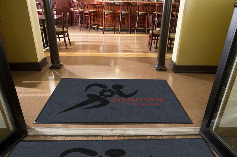 Grindtime 4 X 6 Rubber Backed Carpeted HD - The Personalized Doormats Company