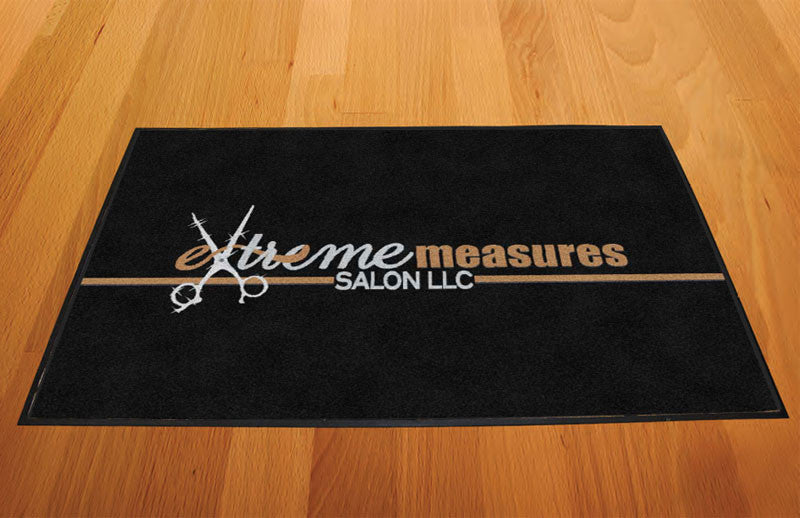 Extreme Measures Salon LLC 2 X 3 Rubber Backed Carpeted HD - The Personalized Doormats Company