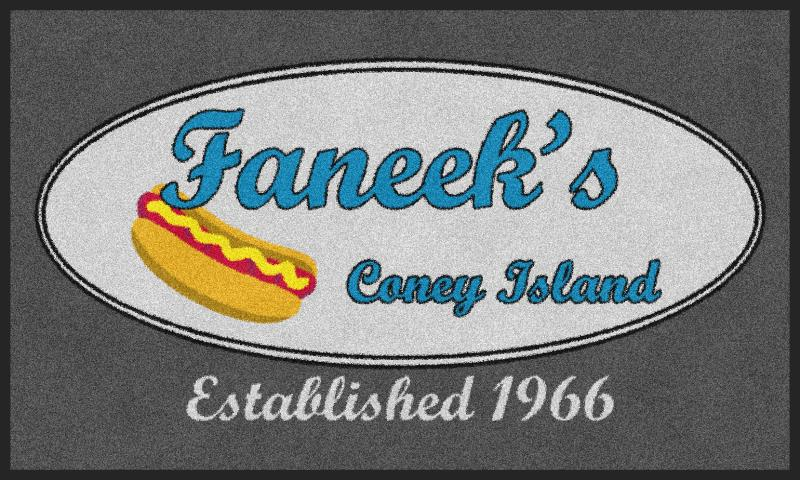 Faneeks Coney Island 3 x 5 Rubber Backed Carpeted - The Personalized Doormats Company