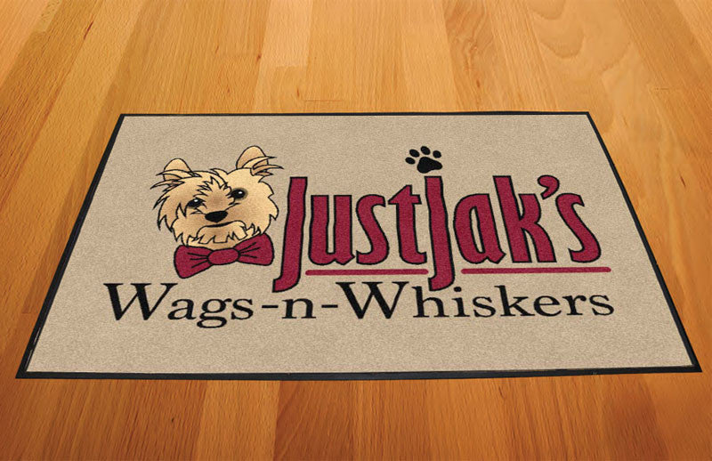 JustJak 2 x 3 Rubber Backed Carpeted HD - The Personalized Doormats Company