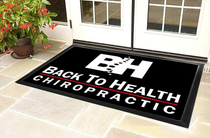 Back To Health 4 X 6 Luxury Berber Inlay - The Personalized Doormats Company