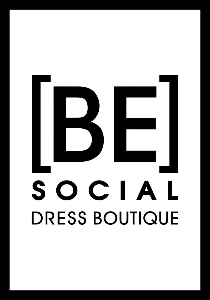 Be Social Dress Boutique Fitting Room 2.71 X 3.92 Luxury Berber Inlay - The Personalized Doormats Company