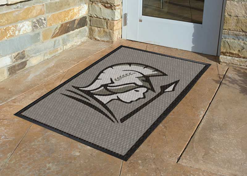 Alexa Thomas Silver 3 X 5 Luxury Berber Inlay - The Personalized Doormats Company