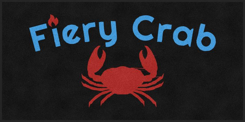 Fiery Crab 4 x 8 Rubber Backed Carpeted HD - The Personalized Doormats Company