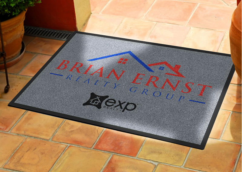 Brian Ernst Realty Group Welcome Mat 2 X 3 Rubber Backed Carpeted HD - The Personalized Doormats Company