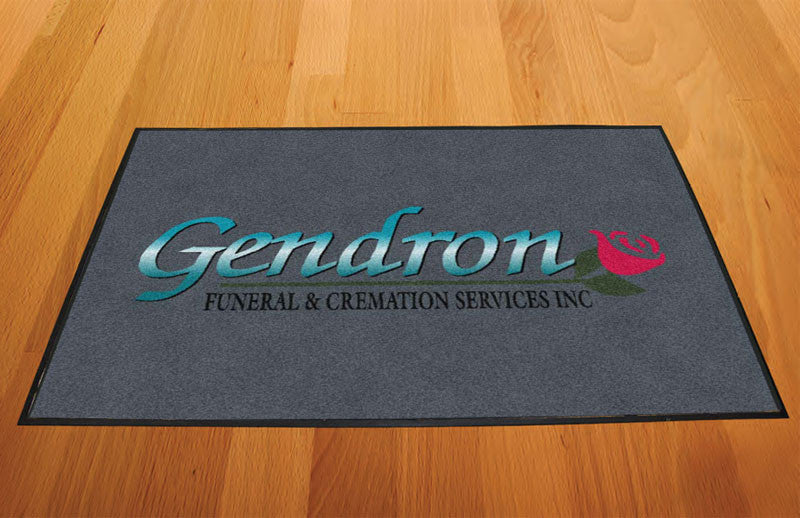 Gendron Funeral & Cremation Services 2 x 3 Rubber Backed Carpeted HD - The Personalized Doormats Company