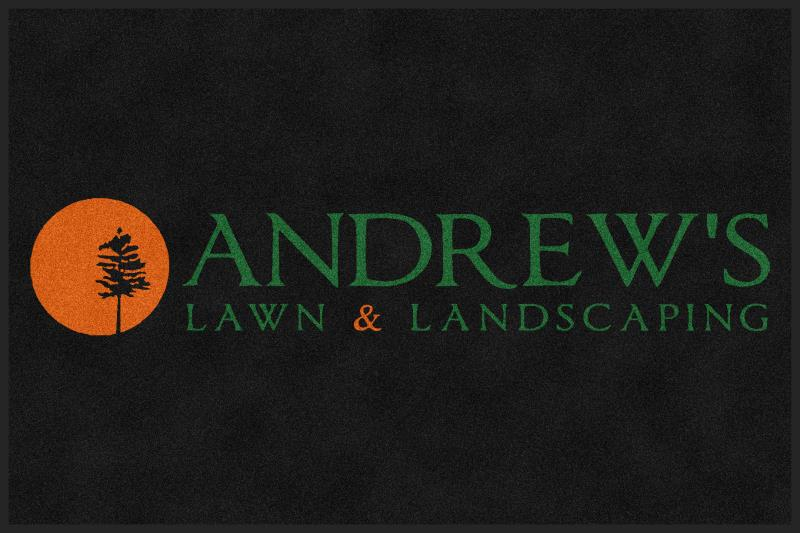 Andrew's Lawn Mat 4 X 6 Rubber Backed Carpeted HD - The Personalized Doormats Company