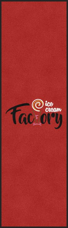 Ice Cream Factory 3 X 10 Rubber Backed Carpeted HD - The Personalized Doormats Company