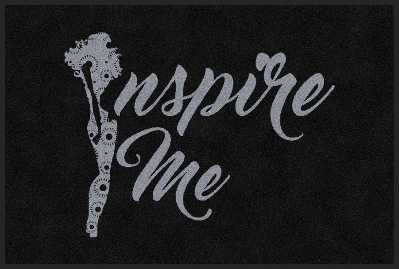 Inspire Me 2 X 3 Rubber Backed Carpeted HD - The Personalized Doormats Company