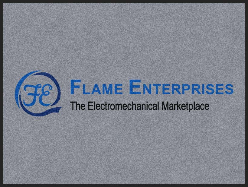 Flame Enterprises 3 x 4 Rubber Backed Carpeted HD - The Personalized Doormats Company