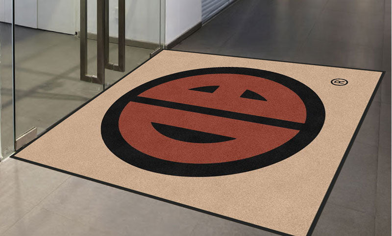 Curtis Dorian 6 X 6 Rubber Backed Carpeted HD - The Personalized Doormats Company