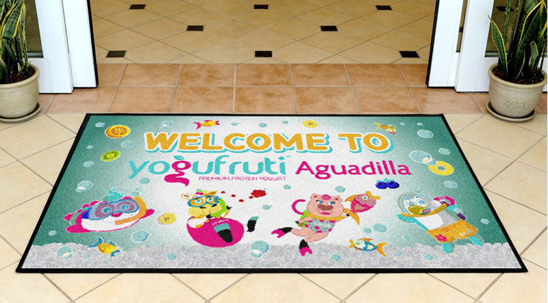 Alfombra YF Aguadilla 3 x 5 Rubber Backed Carpeted - The Personalized Doormats Company