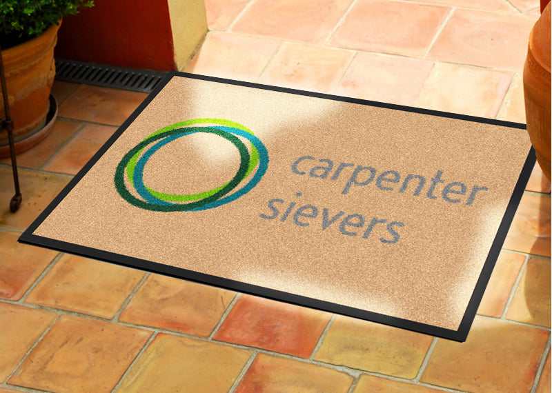 Carpenter Sievers Logo Mat 2 x 3 Rubber Backed Carpeted - The Personalized Doormats Company