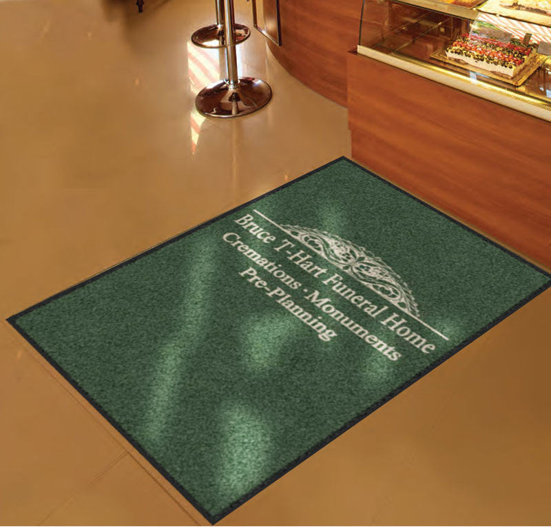 HART FUNERAL HOME 3 X 5 Rubber Backed Carpeted HD - The Personalized Doormats Company