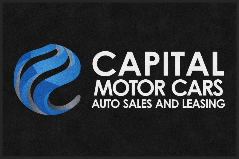 Capital Motor Cars 4 X 6 Rubber Backed Carpeted HD - The Personalized Doormats Company
