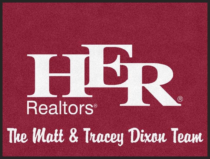 HER Realtors-The Matt & Tracey Dixon 3 X 4 Rubber Backed Carpeted HD - The Personalized Doormats Company