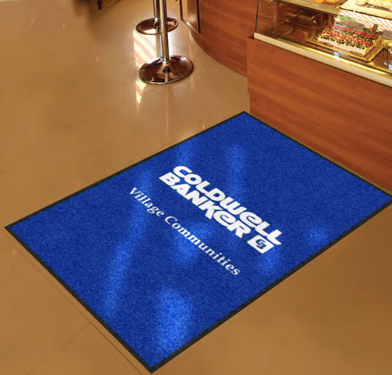 Coldwell Banker Village Communities 3 X 5 Rubber Backed Carpeted HD - The Personalized Doormats Company