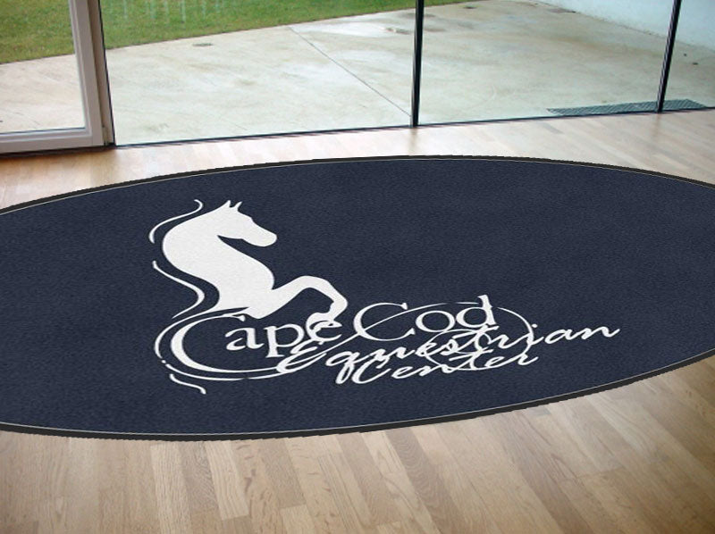 Cape Cod 6 X 12 Rubber Backed Carpeted HD Round - The Personalized Doormats Company
