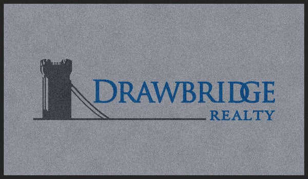 Drawbridge Realty 4 X 7 Rubber Backed Carpeted HD - The Personalized Doormats Company