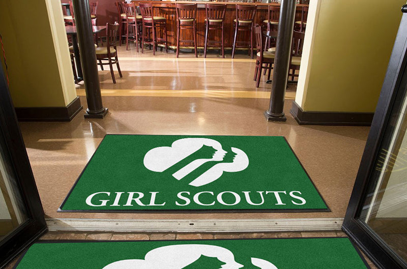 Girl Scouts Greater Los Angeles 4 x 6 Rubber Backed Carpeted HD - The Personalized Doormats Company