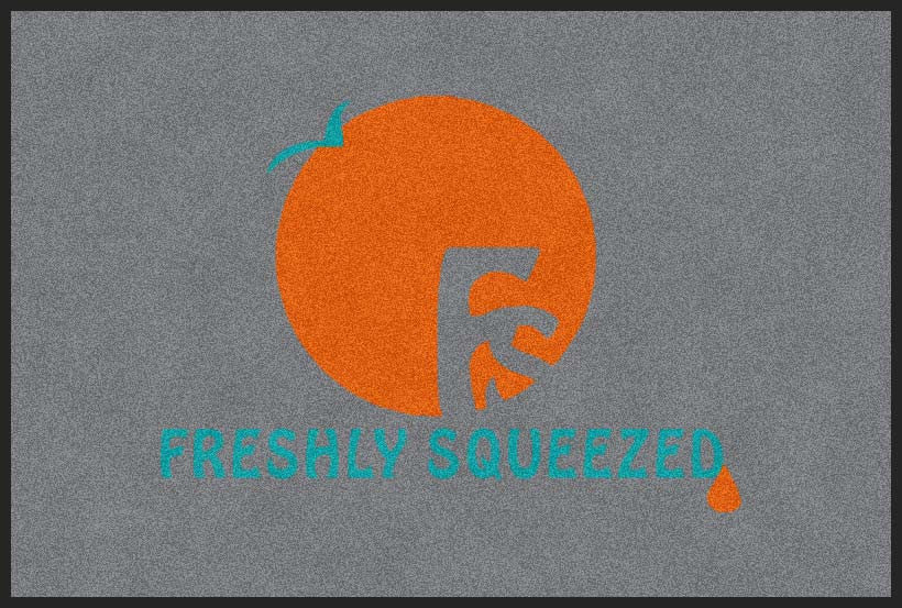 Freshly Squeezed 2 x 3 Flocked Olefin 2 Color - The Personalized Doormats Company