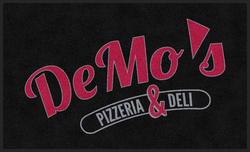 DeMo's Pizzeria & Deli 3 X 5 Rubber Backed Carpeted HD - The Personalized Doormats Company