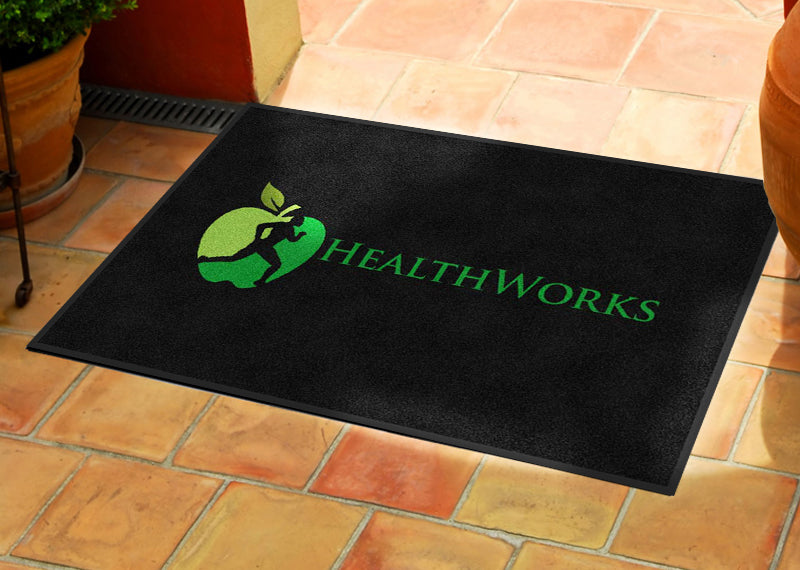 HealthWorks 2 X 3 Rubber Backed Carpeted HD - The Personalized Doormats Company