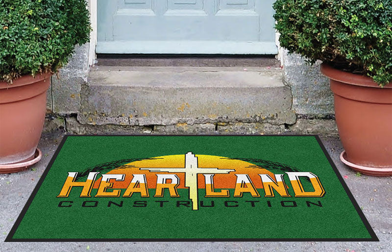 Heartland Construction INC 3 X 4 Rubber Backed Carpeted HD - The Personalized Doormats Company