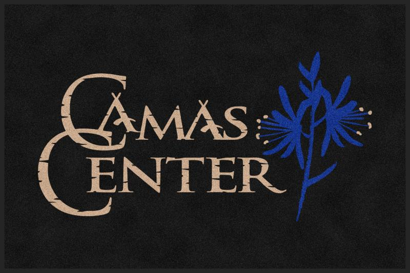 Camas Center 4 X 6 Rubber Backed Carpeted HD - The Personalized Doormats Company