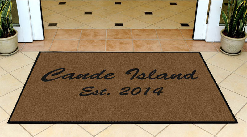 Cande Island 3 X 5 Rubber Backed Carpeted HD - The Personalized Doormats Company