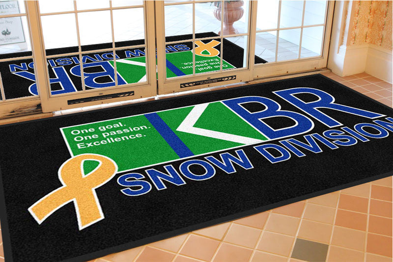 KBR Service Group 4 X 8 Rubber Backed Carpeted HD - The Personalized Doormats Company