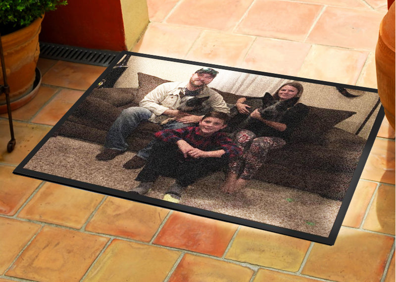 Family 2 X 3 Rubber Backed Carpeted HD - The Personalized Doormats Company