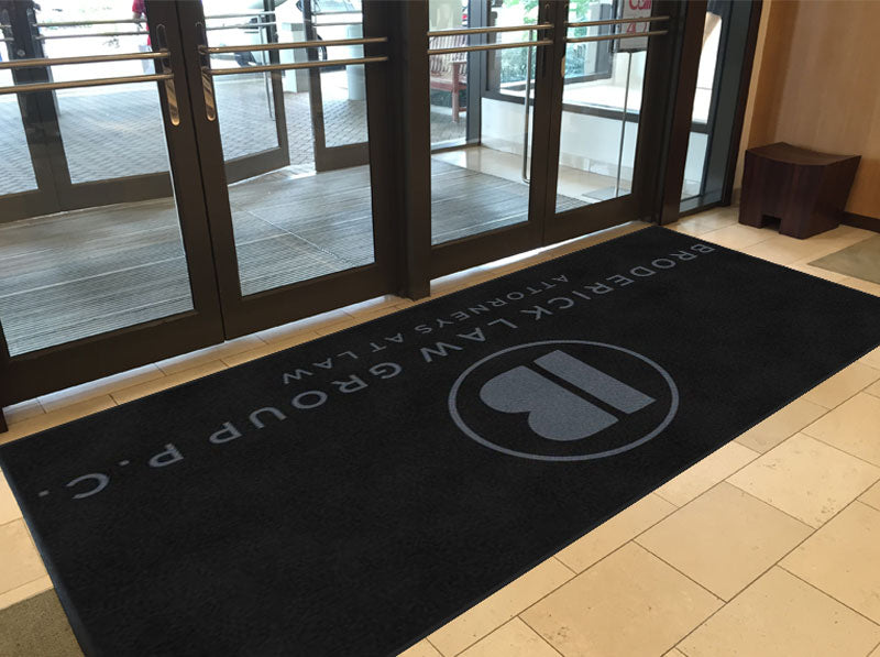 Broderick Law Group, P.C. 6 X 12 Rubber Backed Carpeted HD - The Personalized Doormats Company