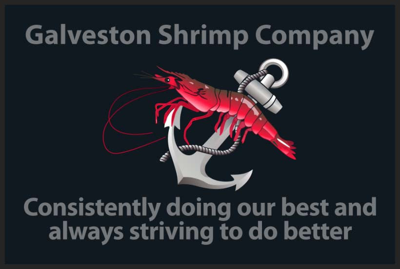 Galveston Shrimp Company 2 x 3 Floor Impression - The Personalized Doormats Company