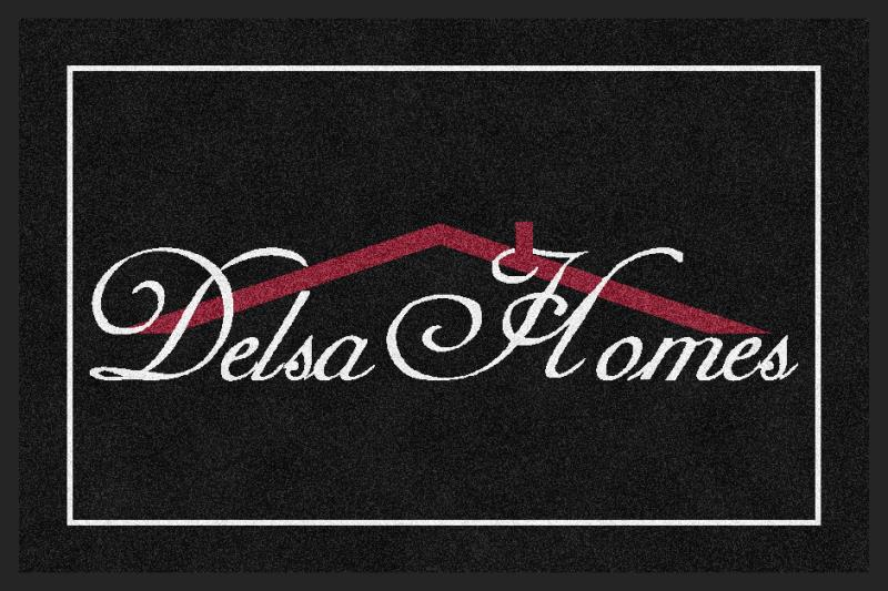 DELSA HOMES 2 X 3 Rubber Backed Carpeted HD - The Personalized Doormats Company