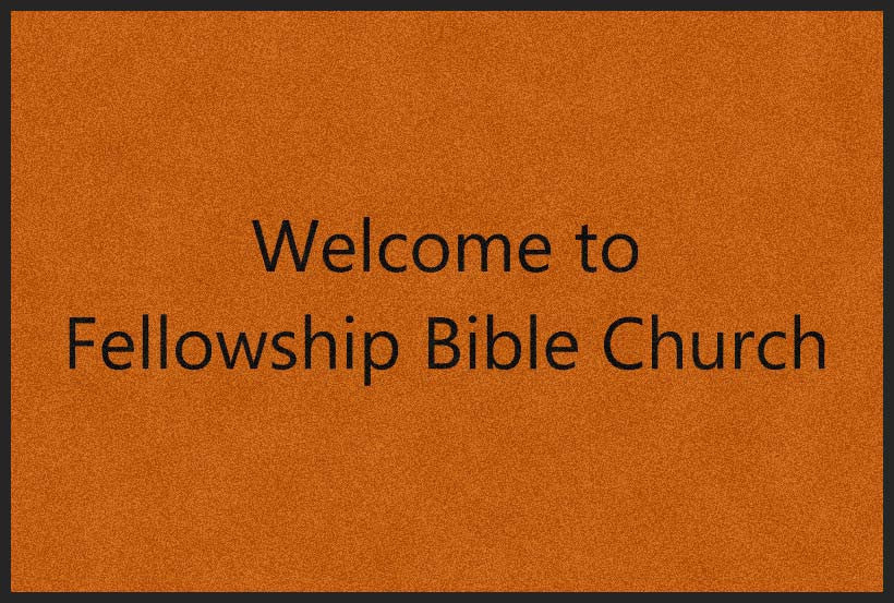 Fellowship Bible Church 4 X 6 Rubber Backed Carpeted HD - The Personalized Doormats Company